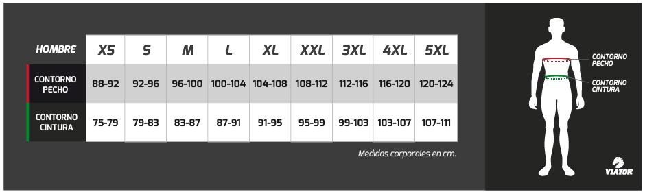 tabla-medidas-viator-maillot-silver-manga-larga