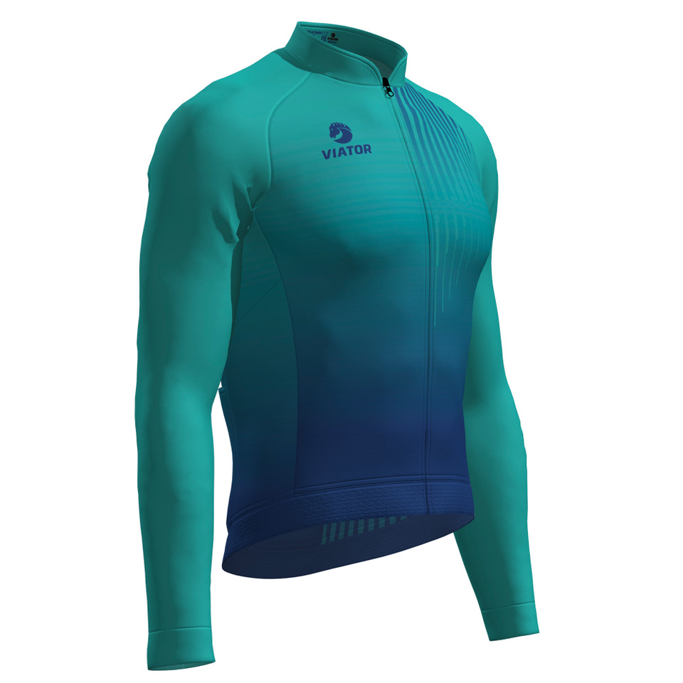 Maillot Viator Pro VTR ML turquesa lateral