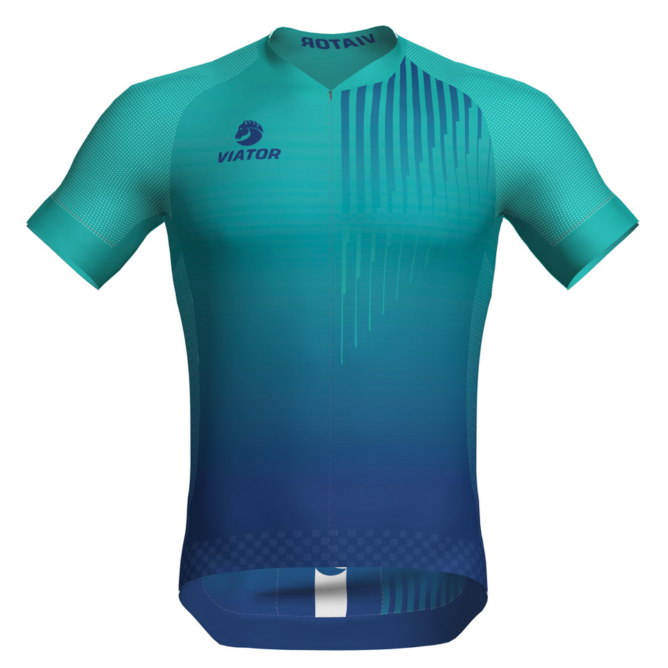 Maillot Viator Pro Vtr turquesa frontal