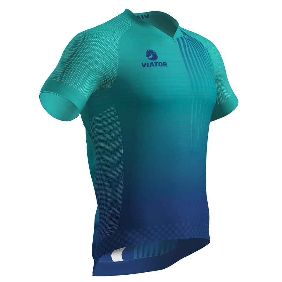 Maillot Viator Pro Vtr turquesa lateral