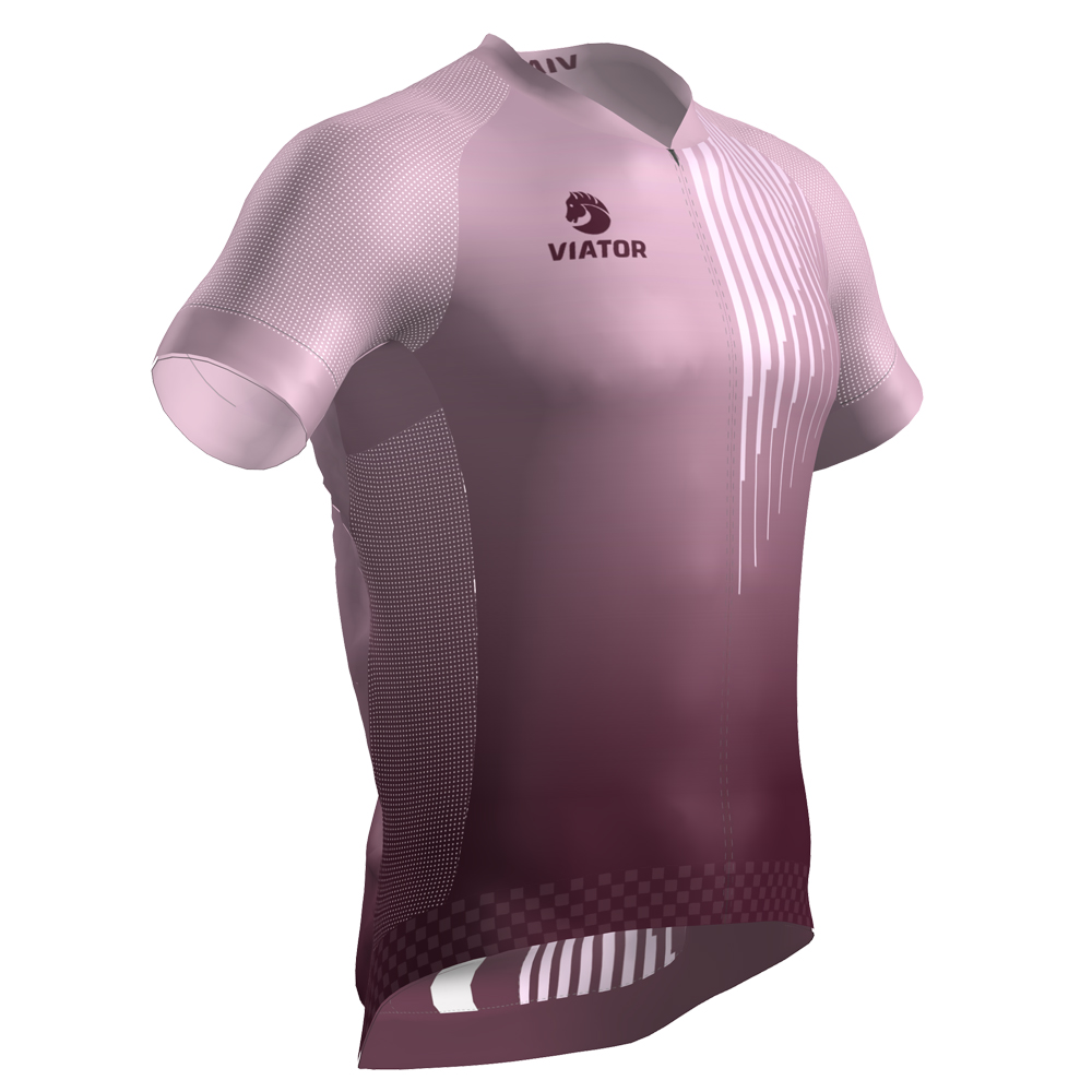 Maillot Viator Pro Vtr rosa lateral