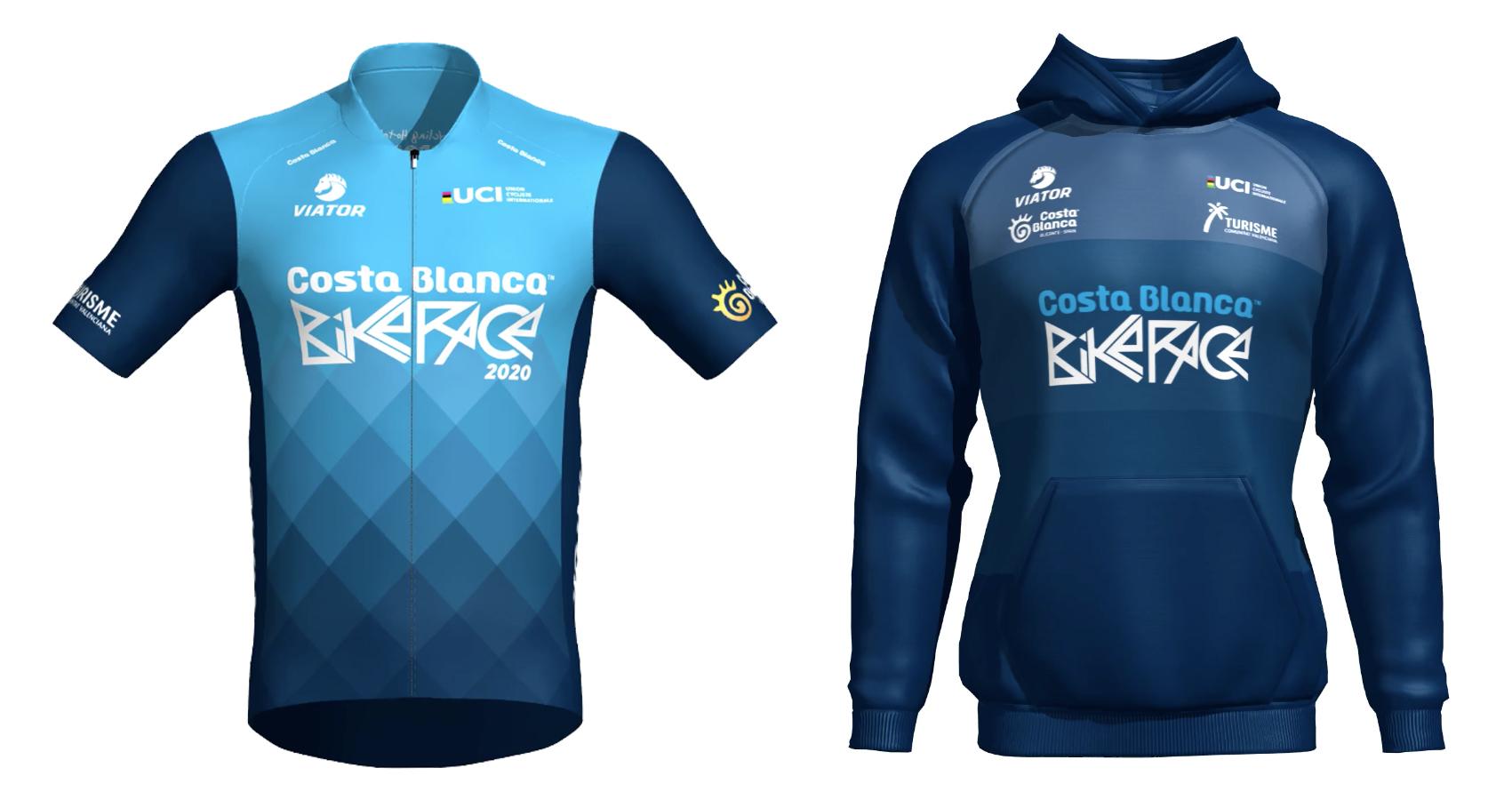 Viator vuelve a ser patrocinador de la Costa Blanca Bike Race 2020 -maillot de lider y sudadera